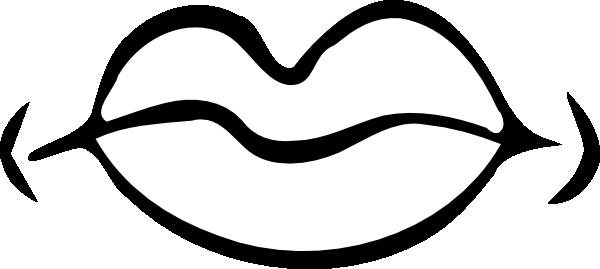 clip art free Lipstick clipart black and white. Quiet mouth clip art.