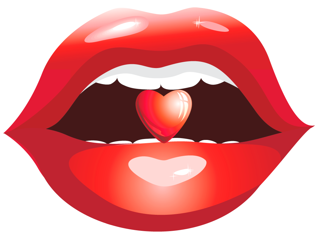 clip art library Beard clipart small. Red lips with heart