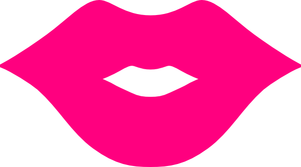 jpg black and white stock Lips clipart. Pink .