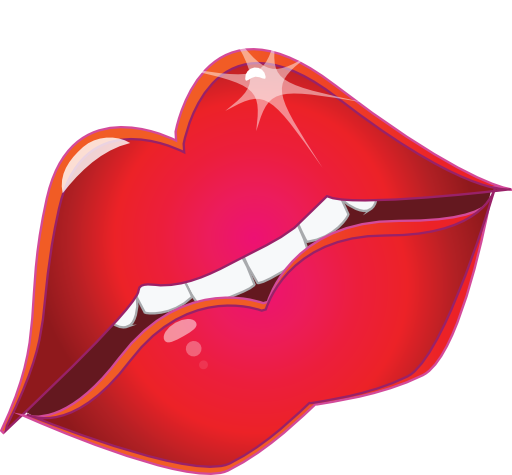 png freeuse Lips kiss clipart. Red smiley emoticon i