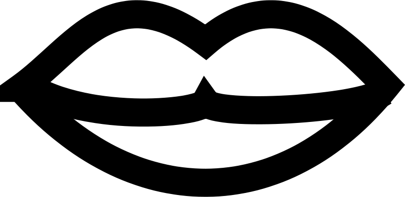svg transparent library Lipstick clipart black and white. Lips clip art panda.