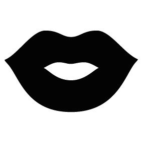 png freeuse Lipstick clipart black and white. Lips silhouette at getdrawings.