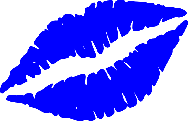 jpg royalty free download Kiss lips clipart. Blue