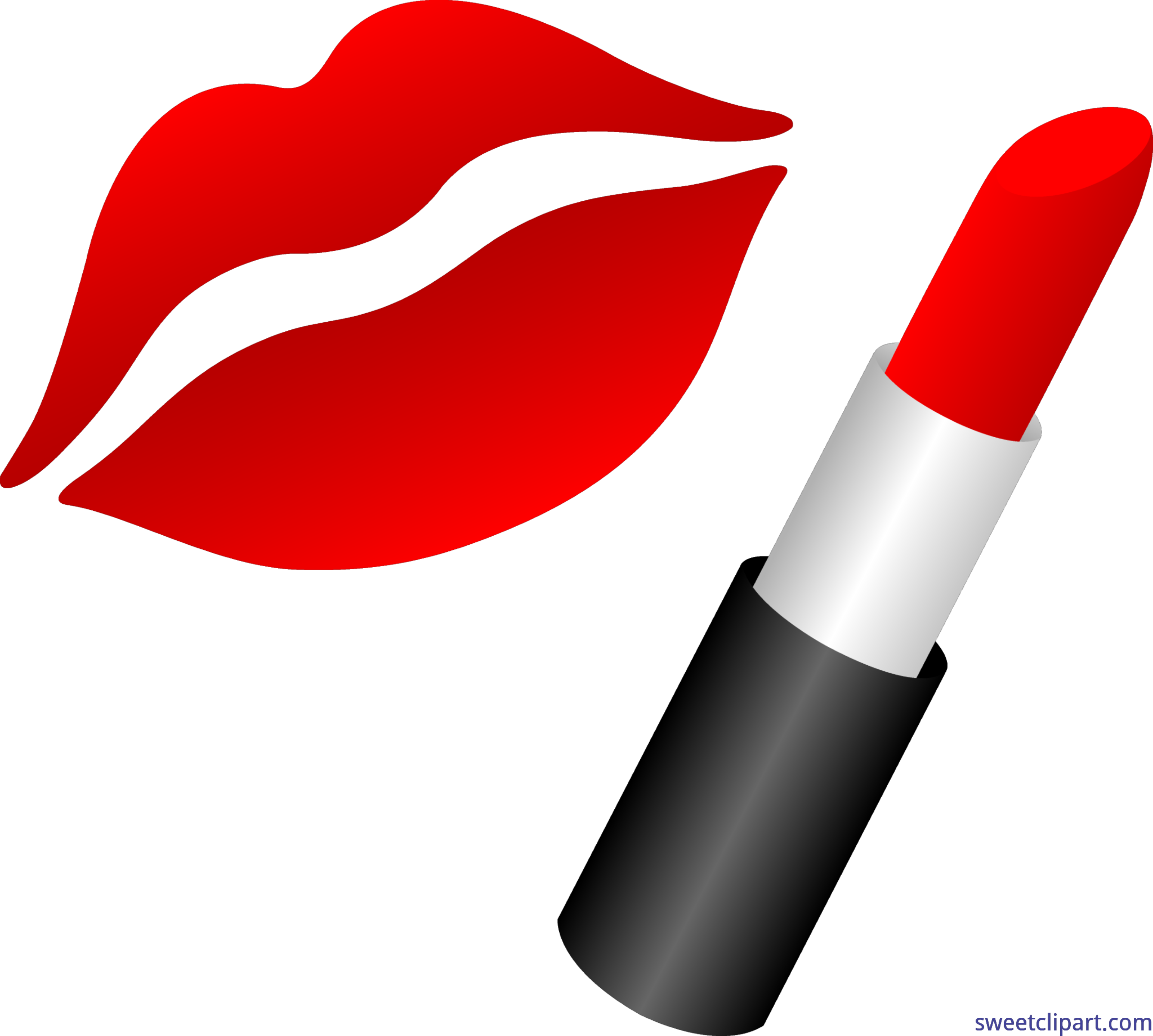 vector freeuse Lipstick clipart object. Lips clip art sweet.