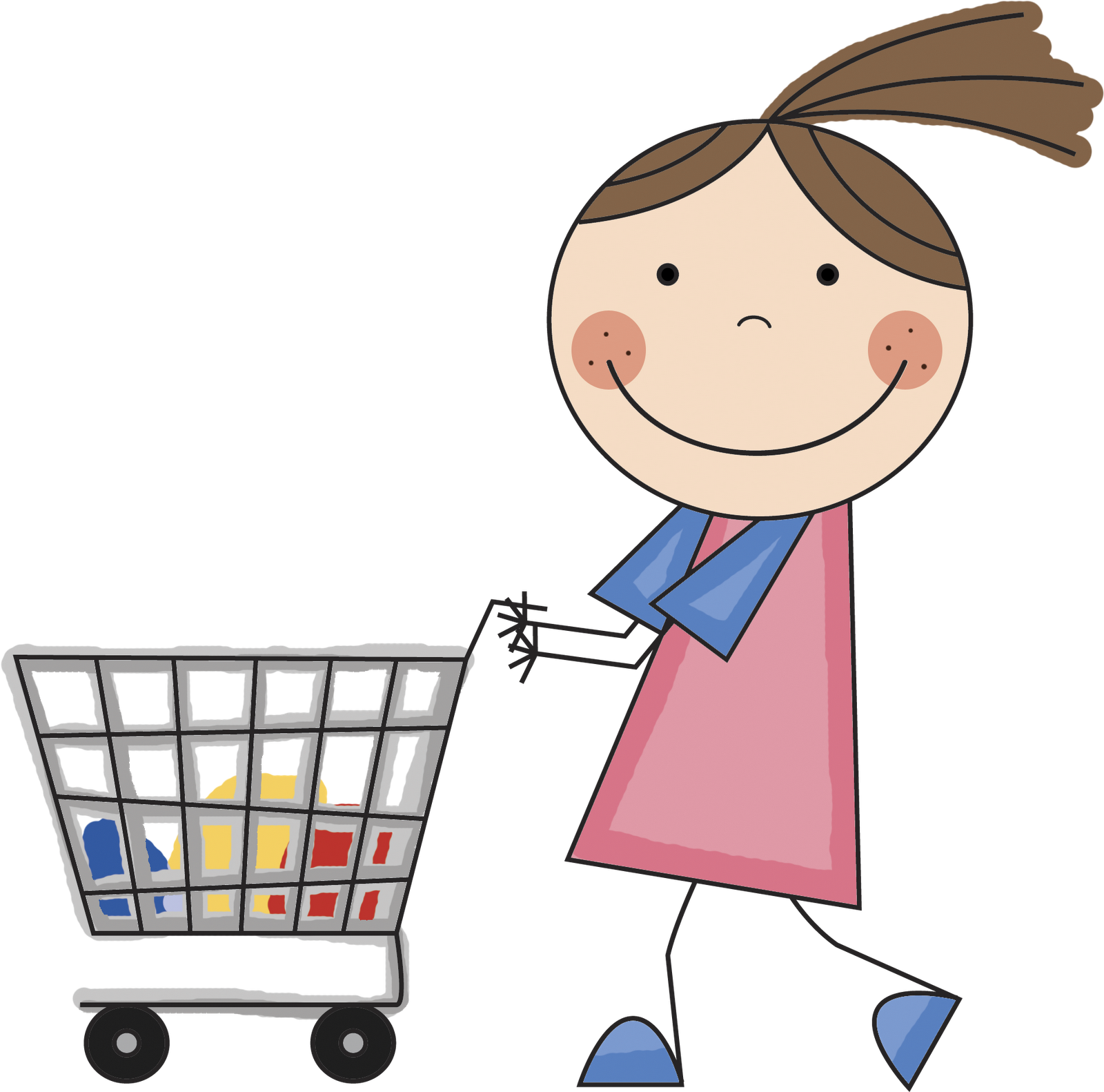 clip art freeuse download Ferrerias reds going shopping. Supermarket clipart shoping