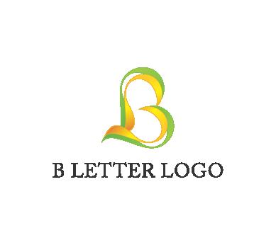 clipart B letter logo psd design download