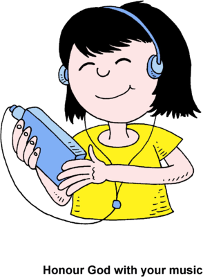 clip art freeuse Image girl with ipod. Listen clipart.