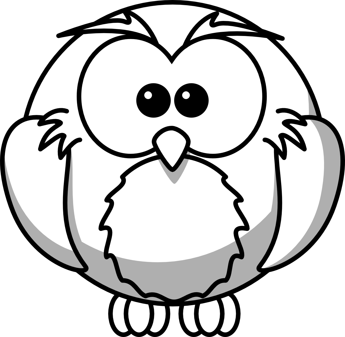 png royalty free download Owl panda free images. Listening clipart black and white