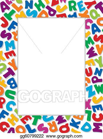 jpg transparent Vector frame white background. Literacy clipart alphabet.