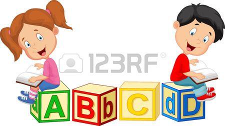 clipart transparent download Stock vector preschool activities. Literacy clipart alphabet block.