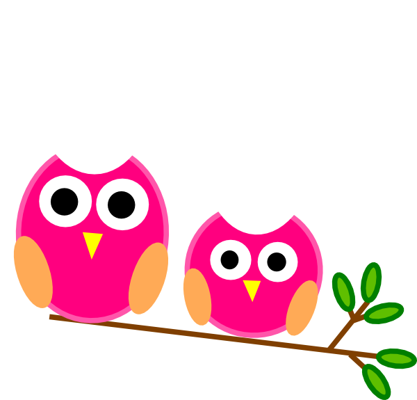 svg library Big and pink owls. Little clipart