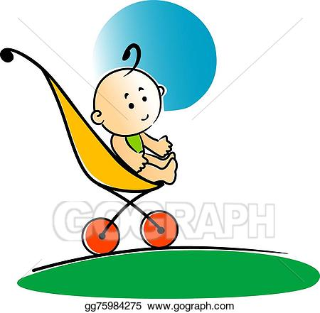 clipart transparent stock Vector stock cute in. Little clipart baby sitting.