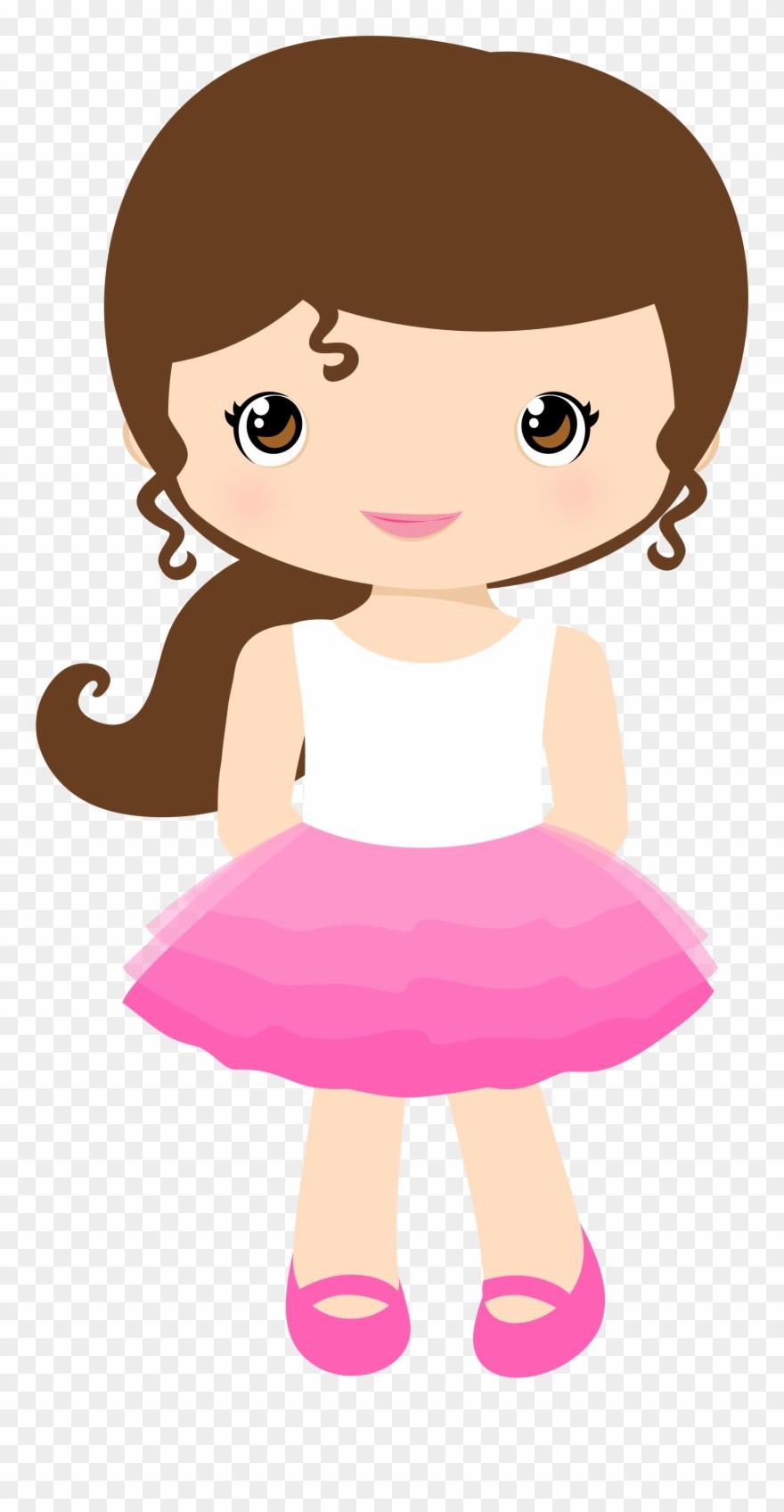 banner transparent Girl cartoon cute . Little clipart gir.