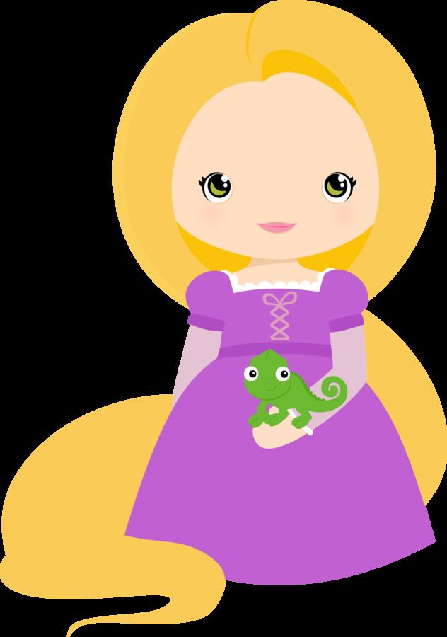 png freeuse library Little clipart rapunzel. Princesas disney cutes jbeq.