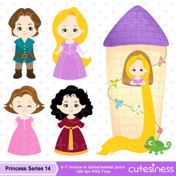 picture royalty free stock Little clipart rapunzel. Princess digital .
