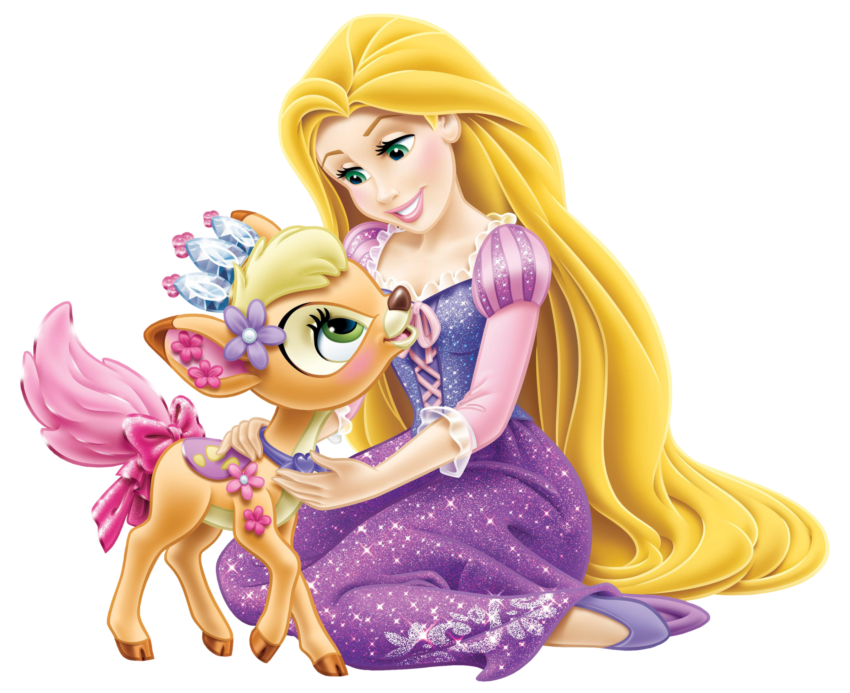 graphic library stock Disney princess with deer. Little clipart rapunzel.
