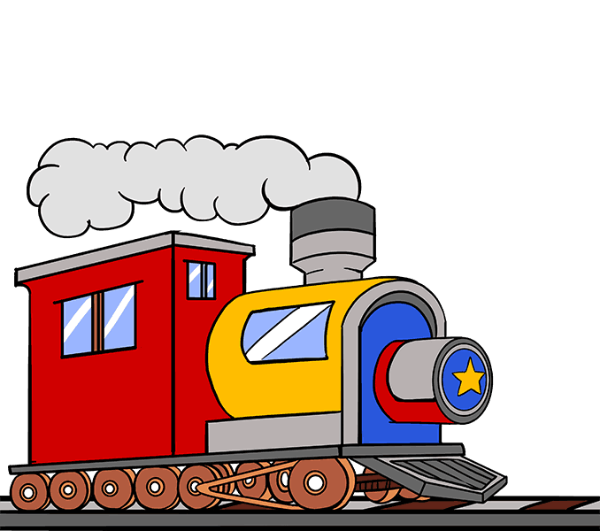 png freeuse How to Draw a Train in a Few Easy Steps