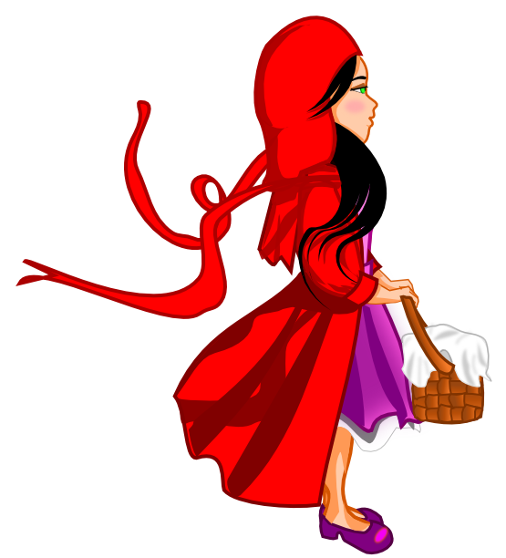 png library library Little red riding hood clipart