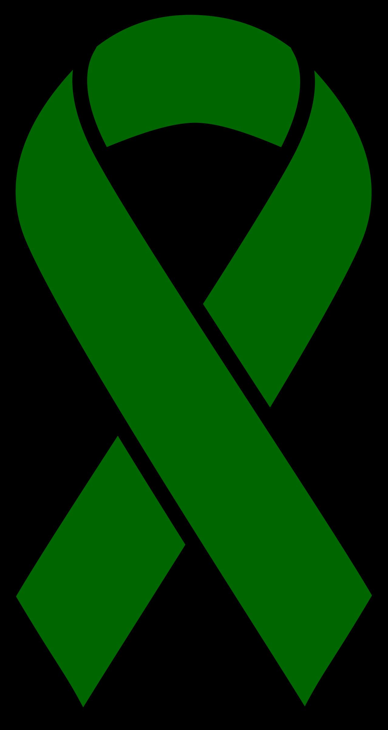 transparent download Emerald cancer ribbon big. Liver clipart