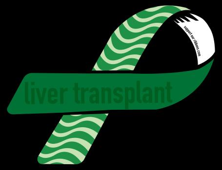 banner black and white Liver clipart liver transplant. Custom ribbon .