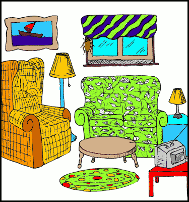 image royalty free Free living clip art. Room clipart