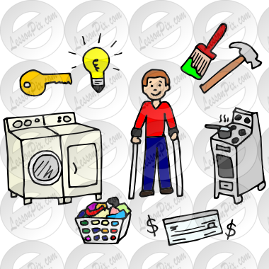 clipart black and white download Independent picture for classroom. Living clipart