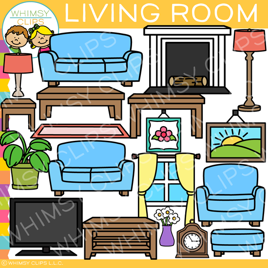 vector freeuse library Living clipart nice home. Clip art images illustrations.
