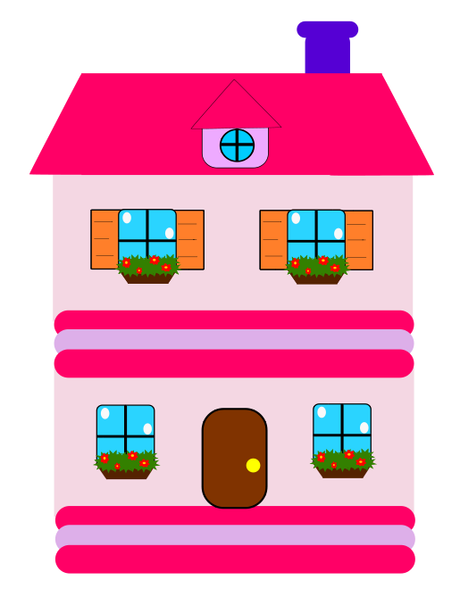 png Pink houses pinterest images. Living clipart perfect house.