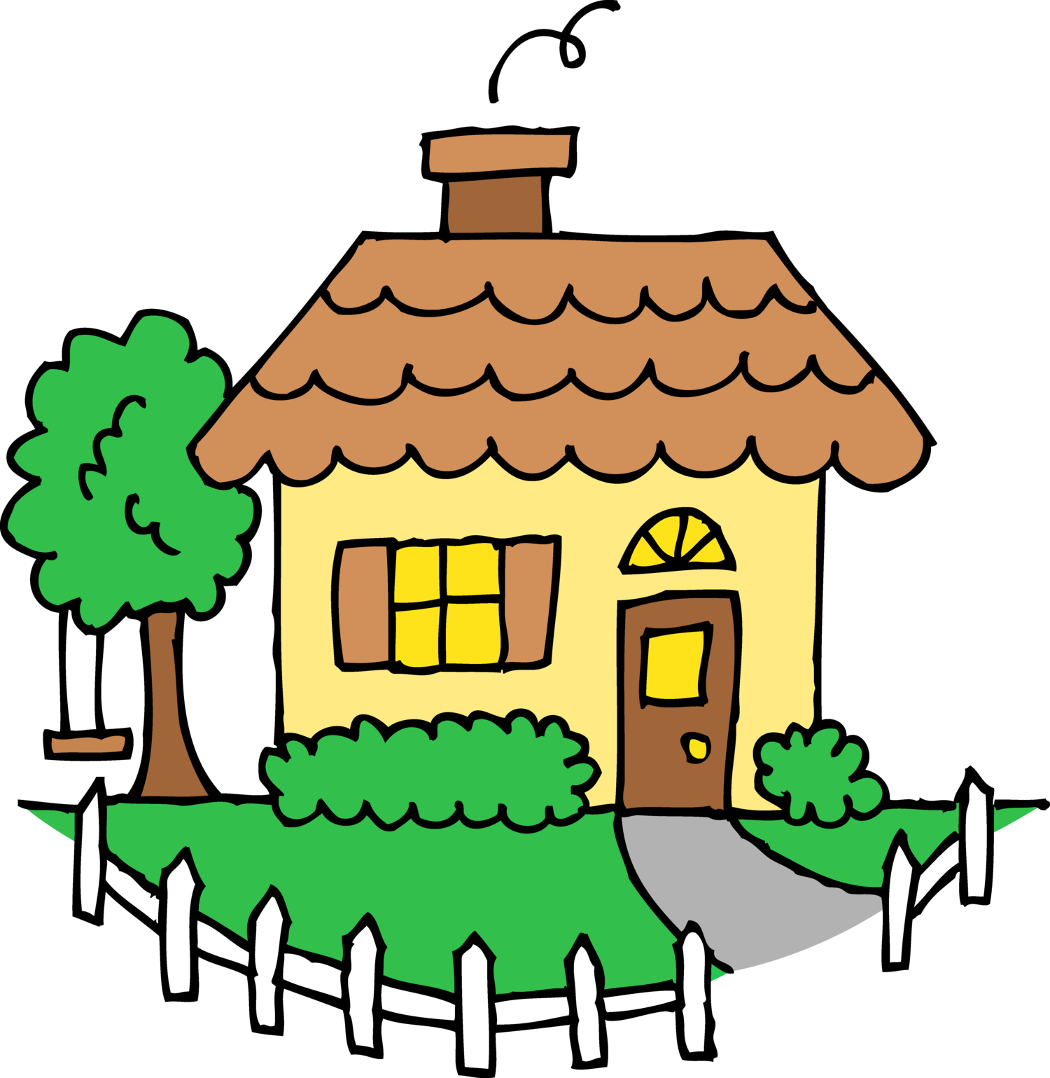 clip art library Make home your happy. Living clipart perfect house.