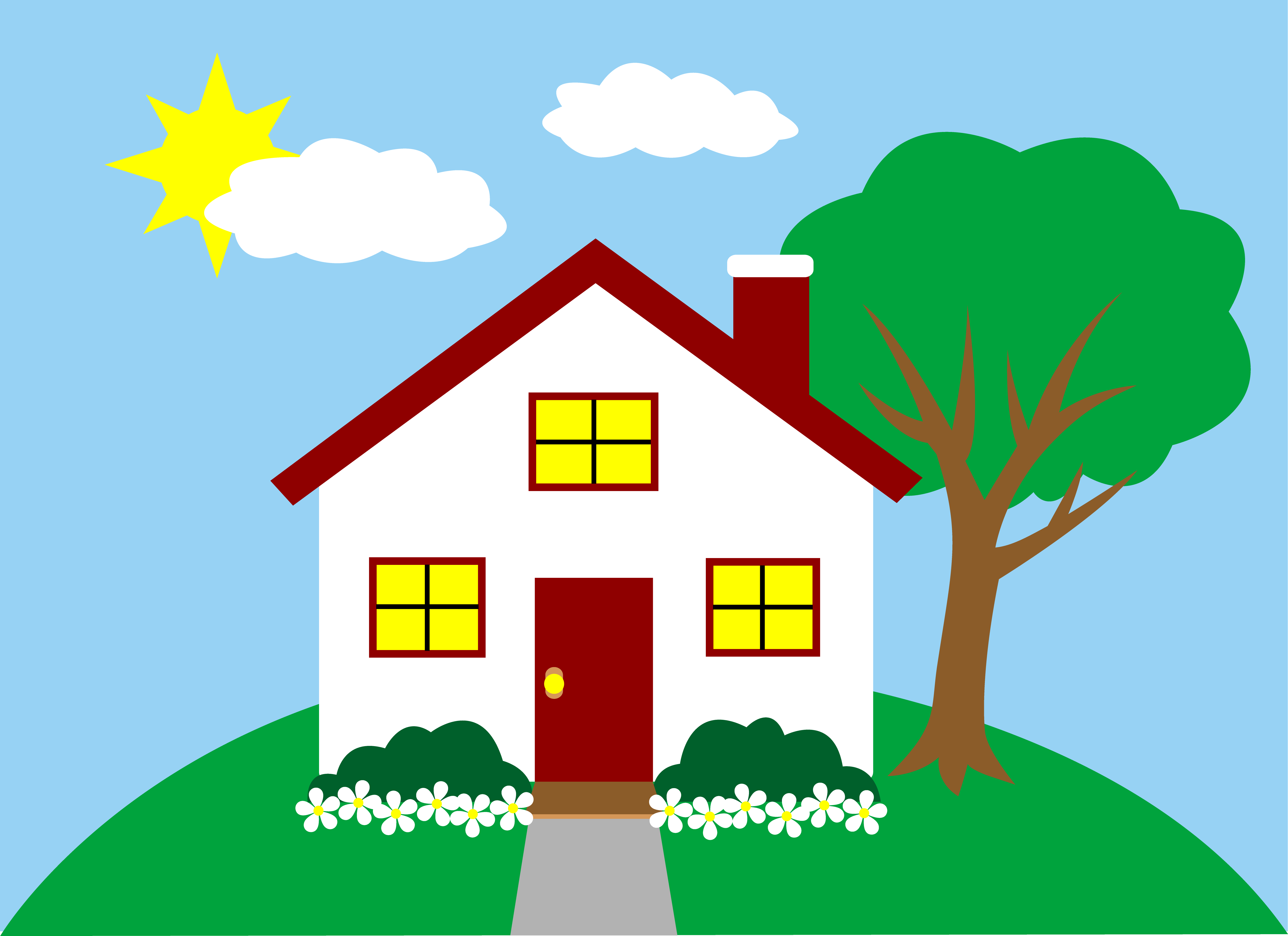 banner royalty free Living clipart perfect house. Free pictures of a.
