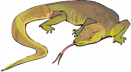image royalty free download Lizard clipart. Horned gecko free on.