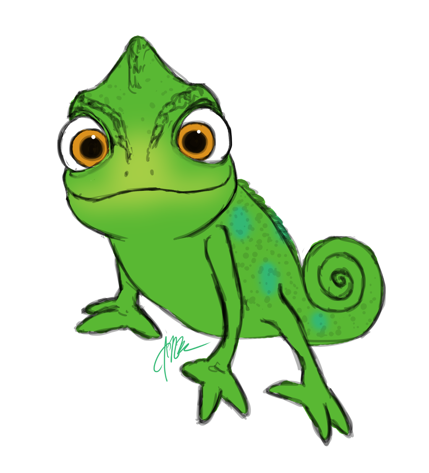 clip art freeuse download Lizard clipart tangled character. Images for pascal smiling.