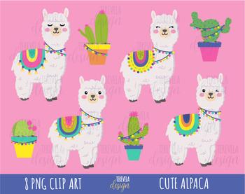 png free stock Llamas alpaca lama cactus. Llama clipart.