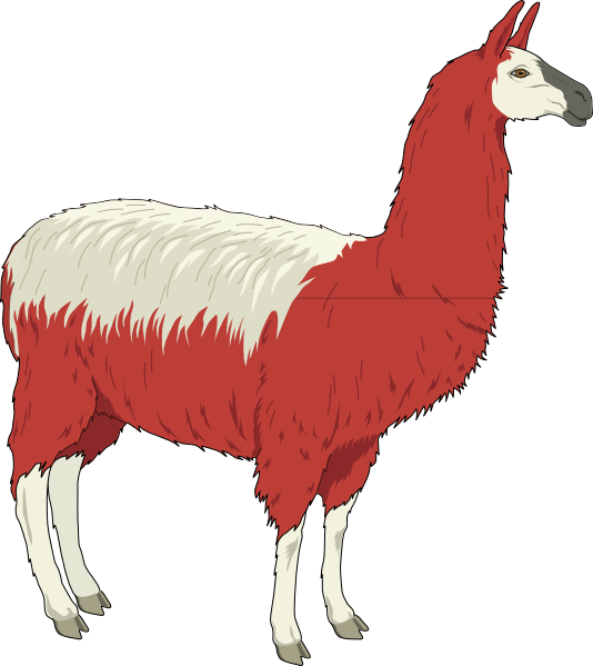 jpg black and white library Clip art at clker. Llama clipart.