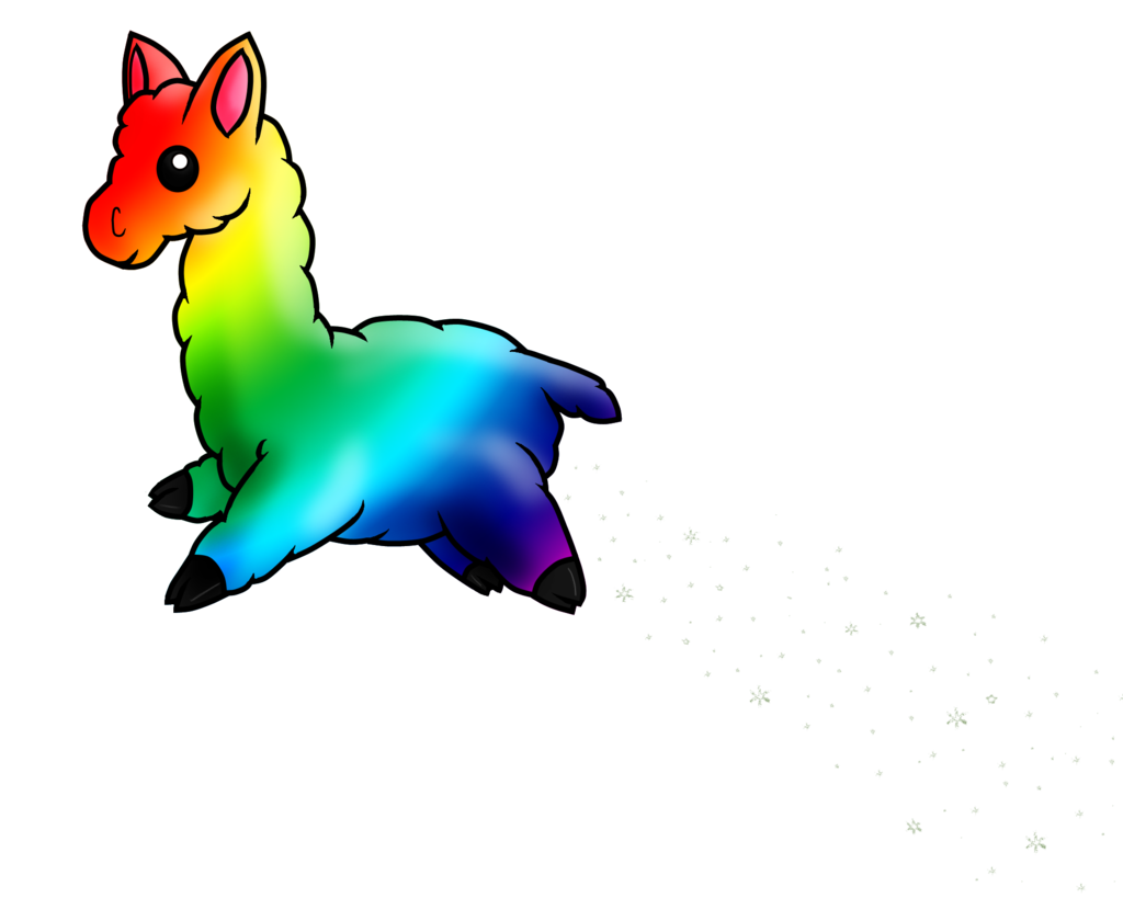 image free library Llama clipart rainbow. By terrabird on deviantart.