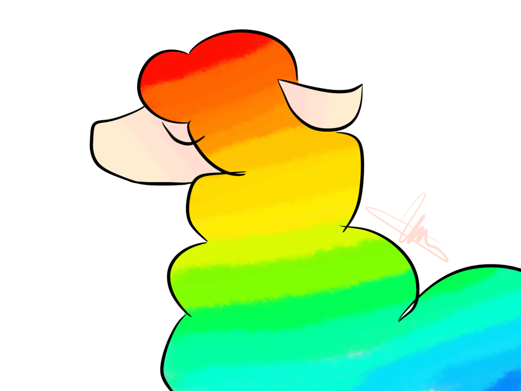 png free download Llama clipart rainbow. Xd by vale on.