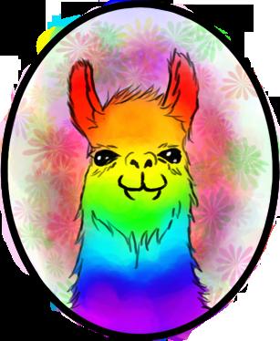 clip freeuse stock By velcake on deviantart. Llama clipart rainbow.