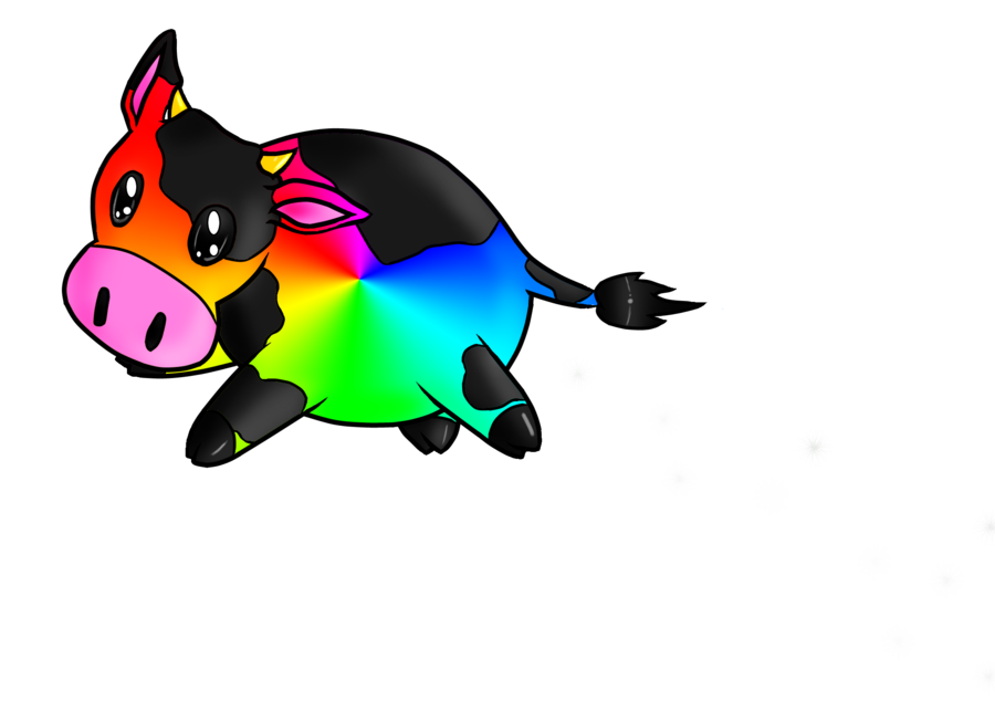 svg black and white library Cow by terrabird on. Llama clipart rainbow.