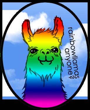 picture free stock By akazuno on deviantart. Llama clipart rainbow.
