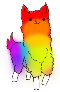 clip download Llama clipart rainbow. Toodle da by lordestic.