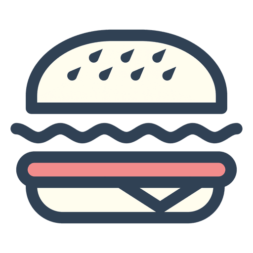 image freeuse download Stroke icon transparent png. Vector burger fast food