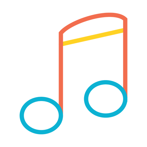 clip transparent download Colorful music note icon