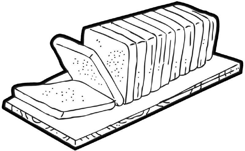 image Station . Loaf of bread clipart black and white