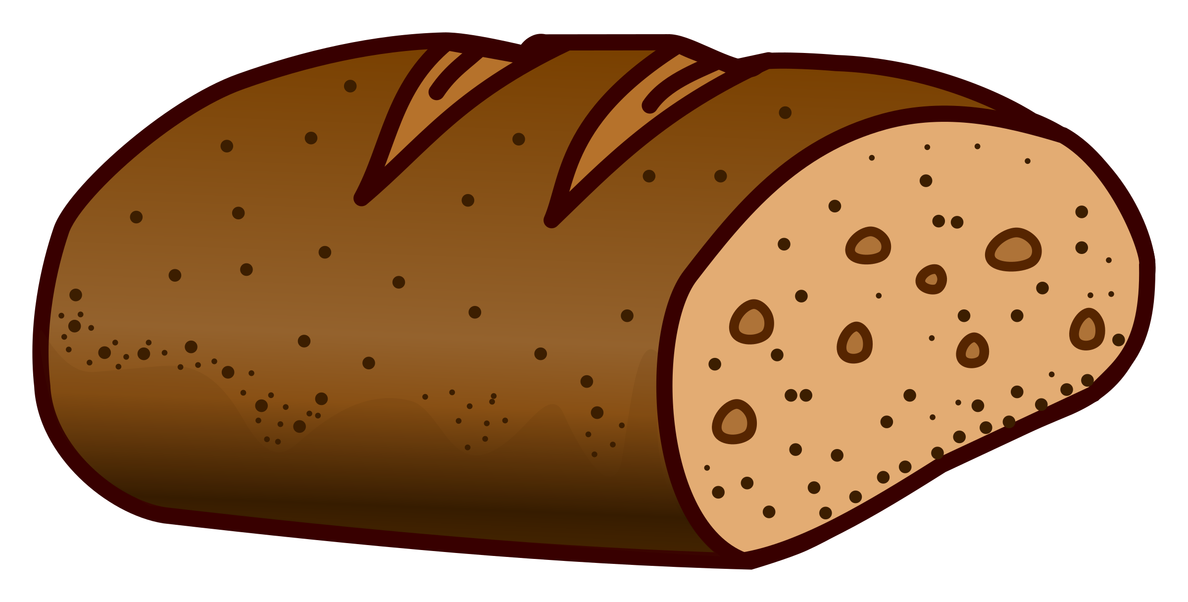 royalty free download Cinnamon roll clipart five. Tremendous loaf of bread.