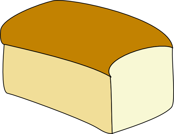 svg black and white Loaf of Bread Outline