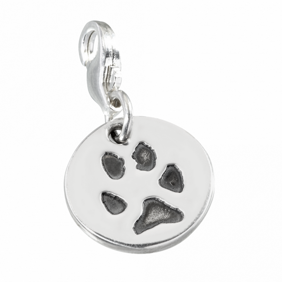picture royalty free stock Round Paw Print Clip Charm