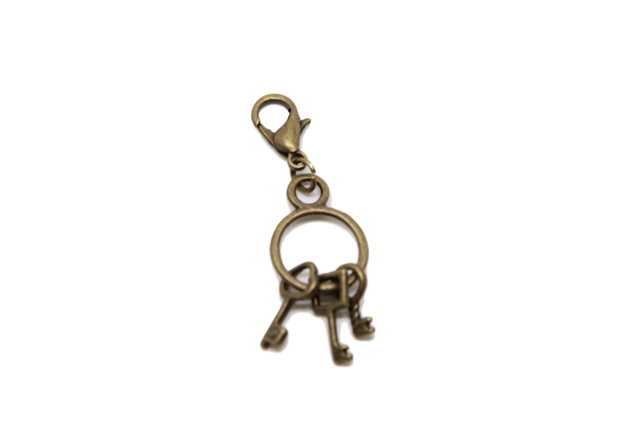picture transparent download Bronze Key Charm Clip on Bead for Charm Bracelets Charms necklace