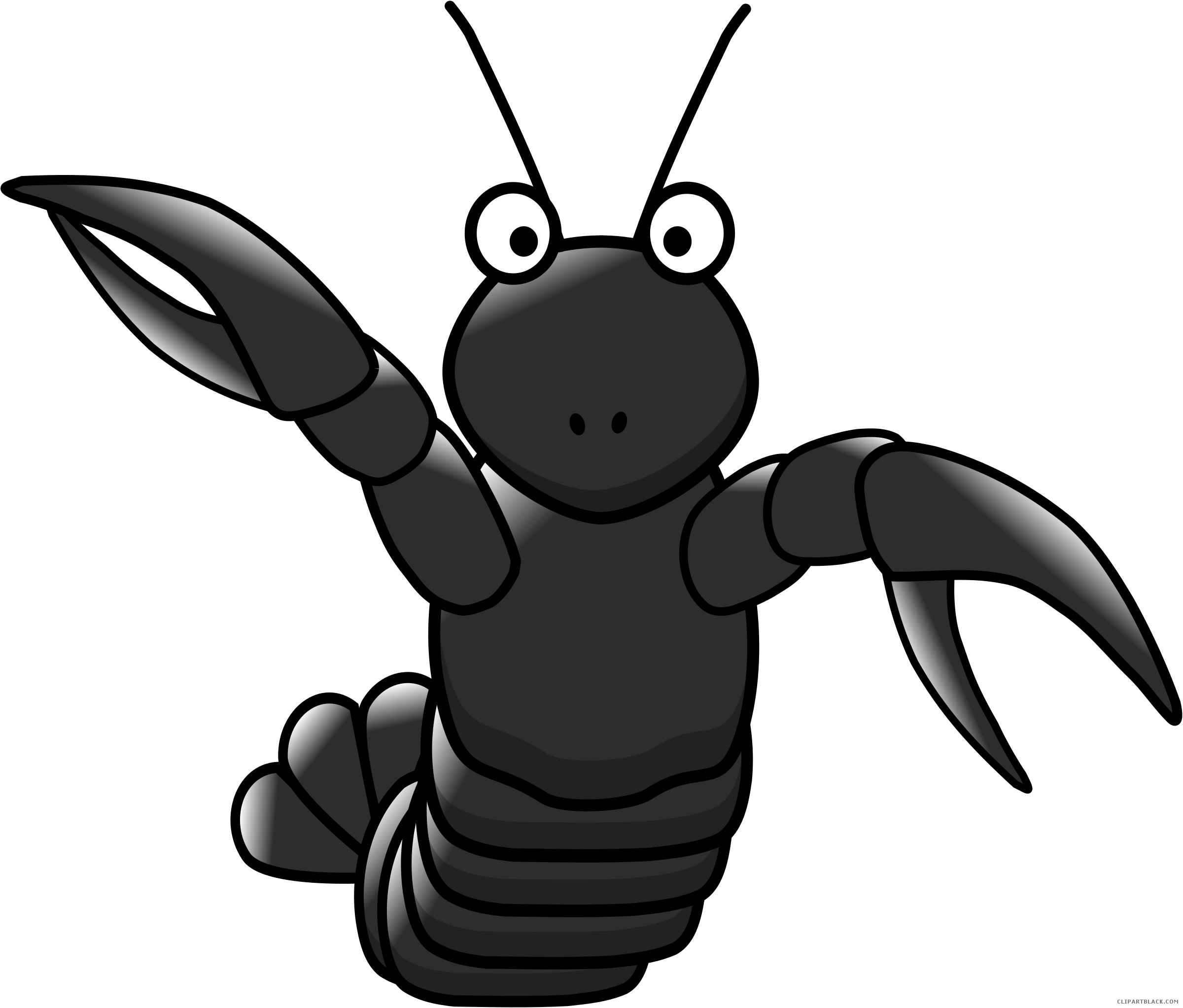 clip art royalty free stock Cartoon animal free black. Lobster clipart lobster bake.