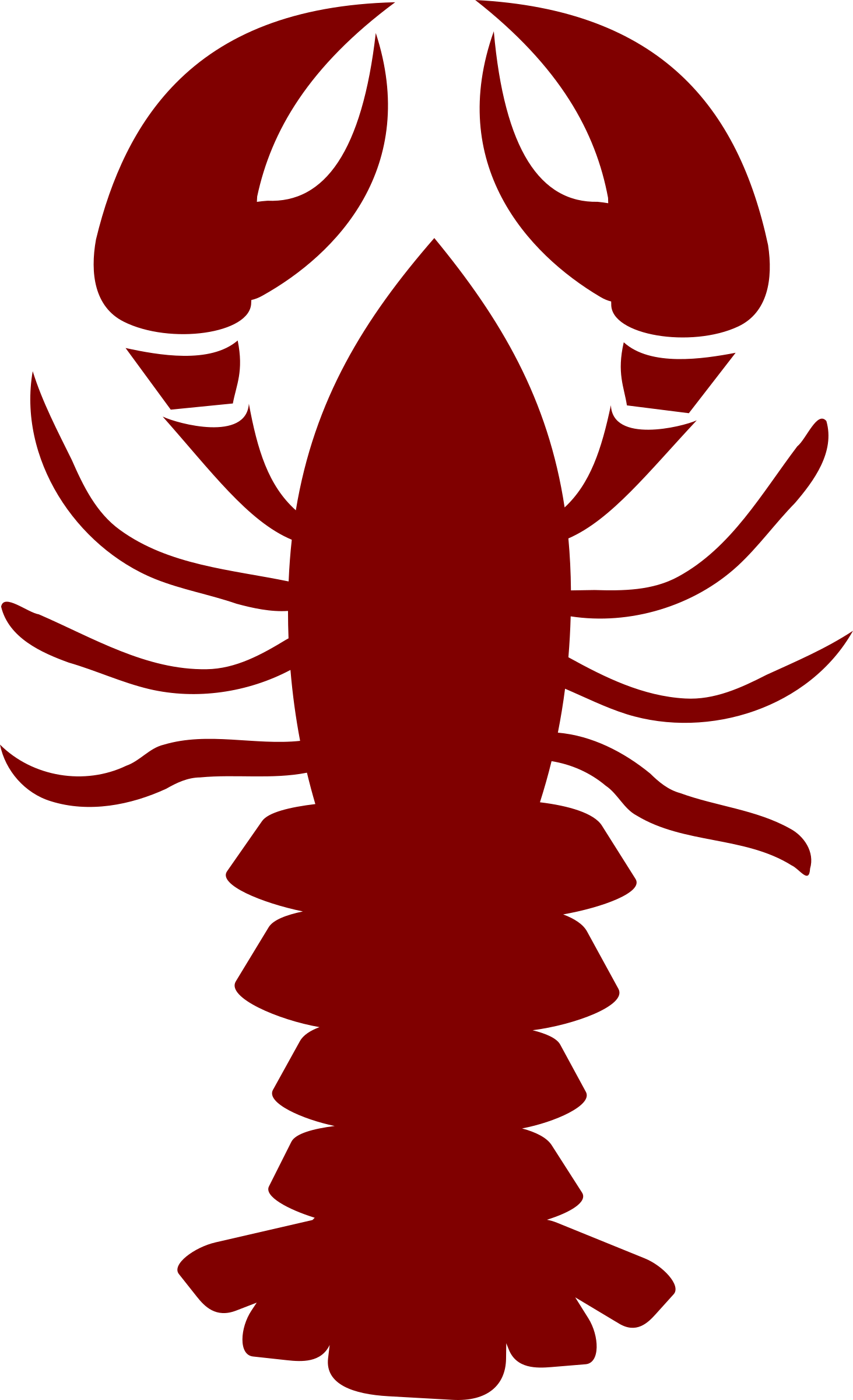 svg transparent library Lobster Clipart pink
