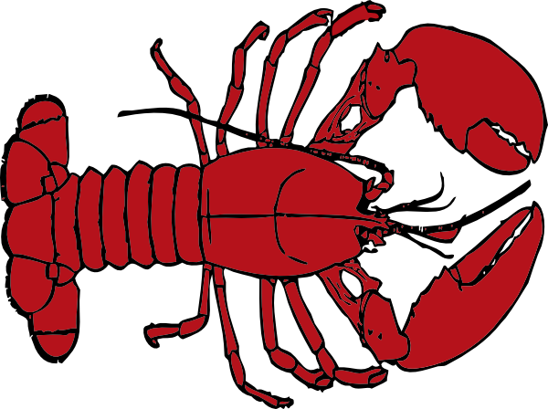 vector royalty free library Lobster Clipart seafood